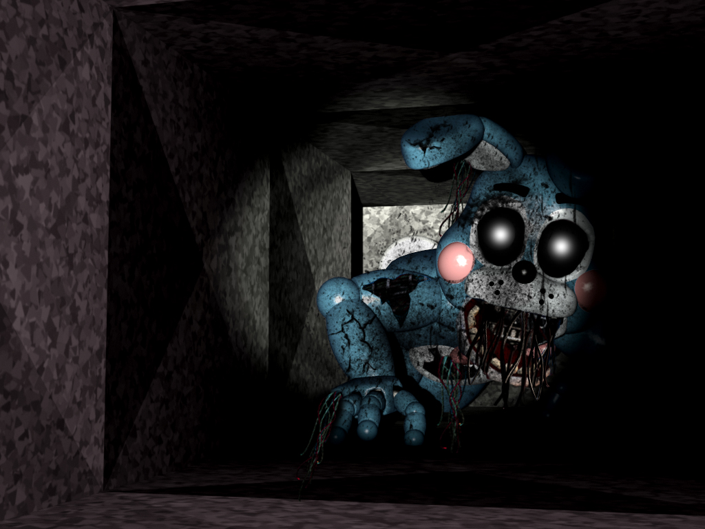 FNAF  Shattered Toy Bonnie in the Air Vent FANMADE by hero13gamer on 1024x768