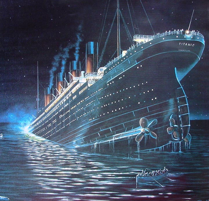 Titanic Wallpaper: Titanic Sinking Wallpaper