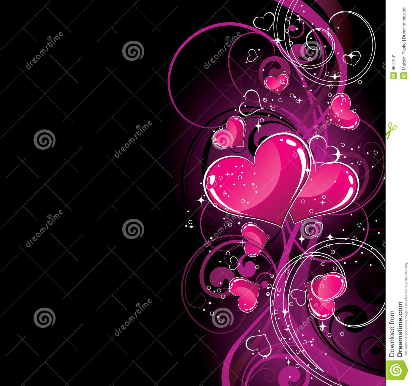 Free Download Black And Pink Hearts Wallpaper Pink Hearts On Black