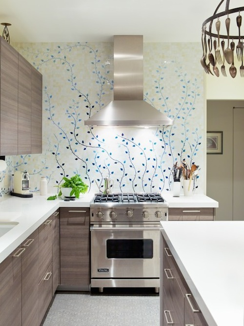 Top 20 Creative Wallpapers Ideas for the Kitchen Eatwell 101 500x667