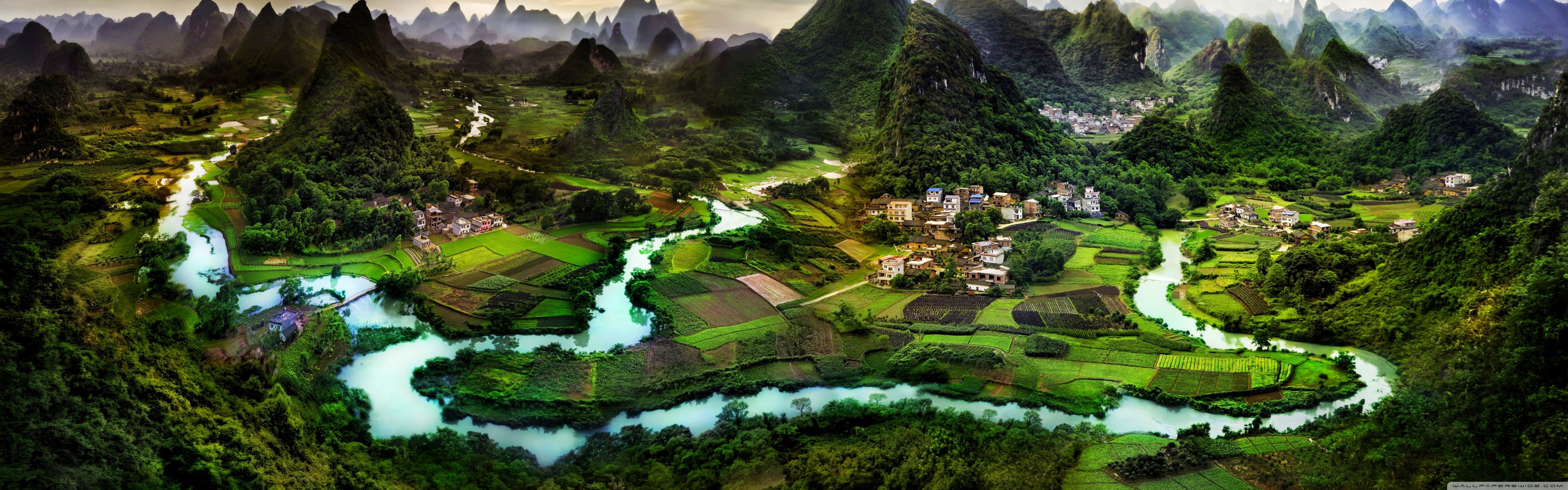 Guilin China 4K HD Desktop Wallpaper for 4K Ultra HD TV Wide 5120x1600