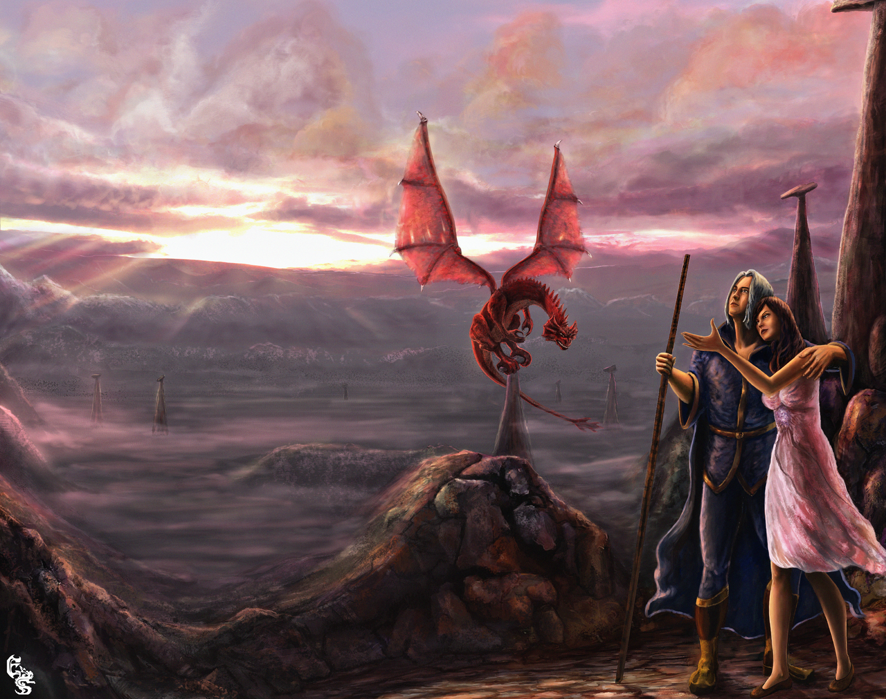 Dragonlance Wallpaper Dragon lance by designes 1800x1420
