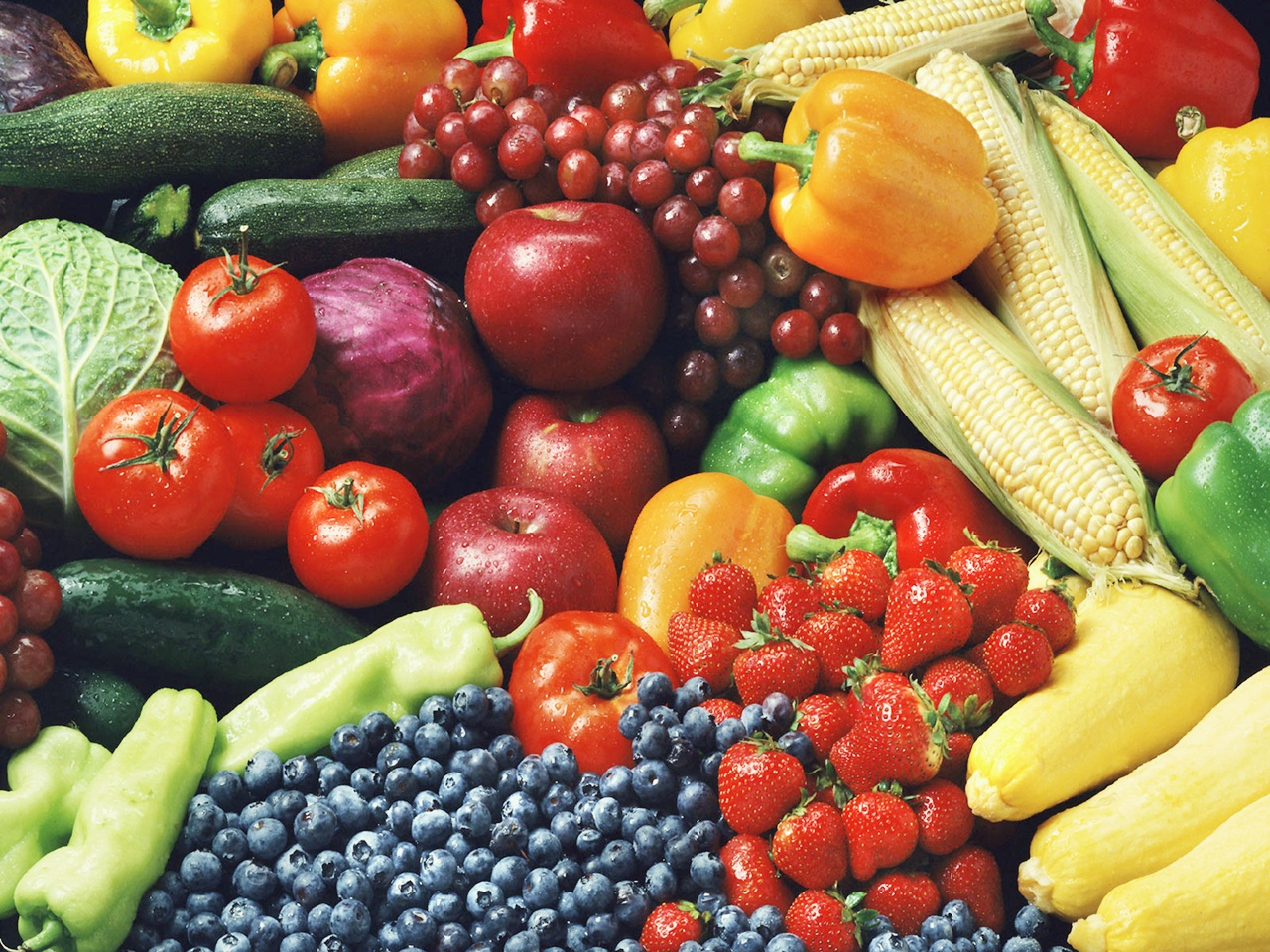 Vegetable And Fruits Wallpaper Fruit And Vegetables Wallpaper 1280x960
