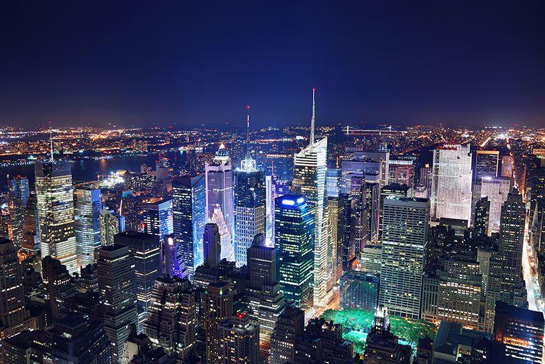 New York Skyline Wallpaper Mural - WallpaperSafari