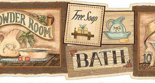 Bath House Wall Paper Border PatternCHI HAH15023B List Price 3400 525x281