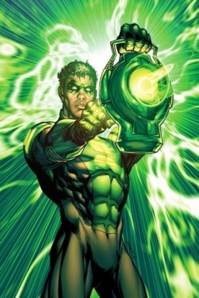 Download cartoons wallpaper Green Lantern I4 with size 640x960 640x960