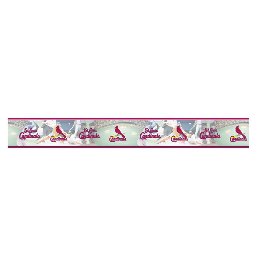 Shop Village St Louis Cardinals Wallpaper Border at Lowescom 900x900