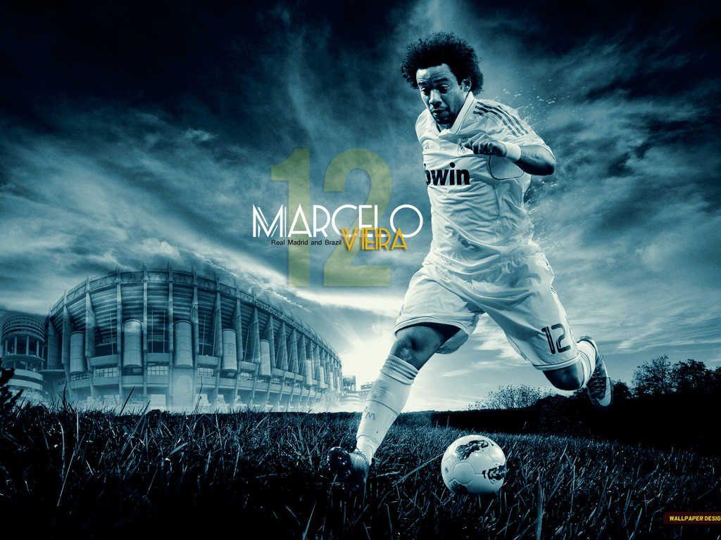 Marcelo HQ Wallpaper Footballs Real madrid wallpapers Madrid 1024x768