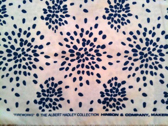 Hinson Company Fireworks Fabric by decoratorsbackroom on Etsy 570x428