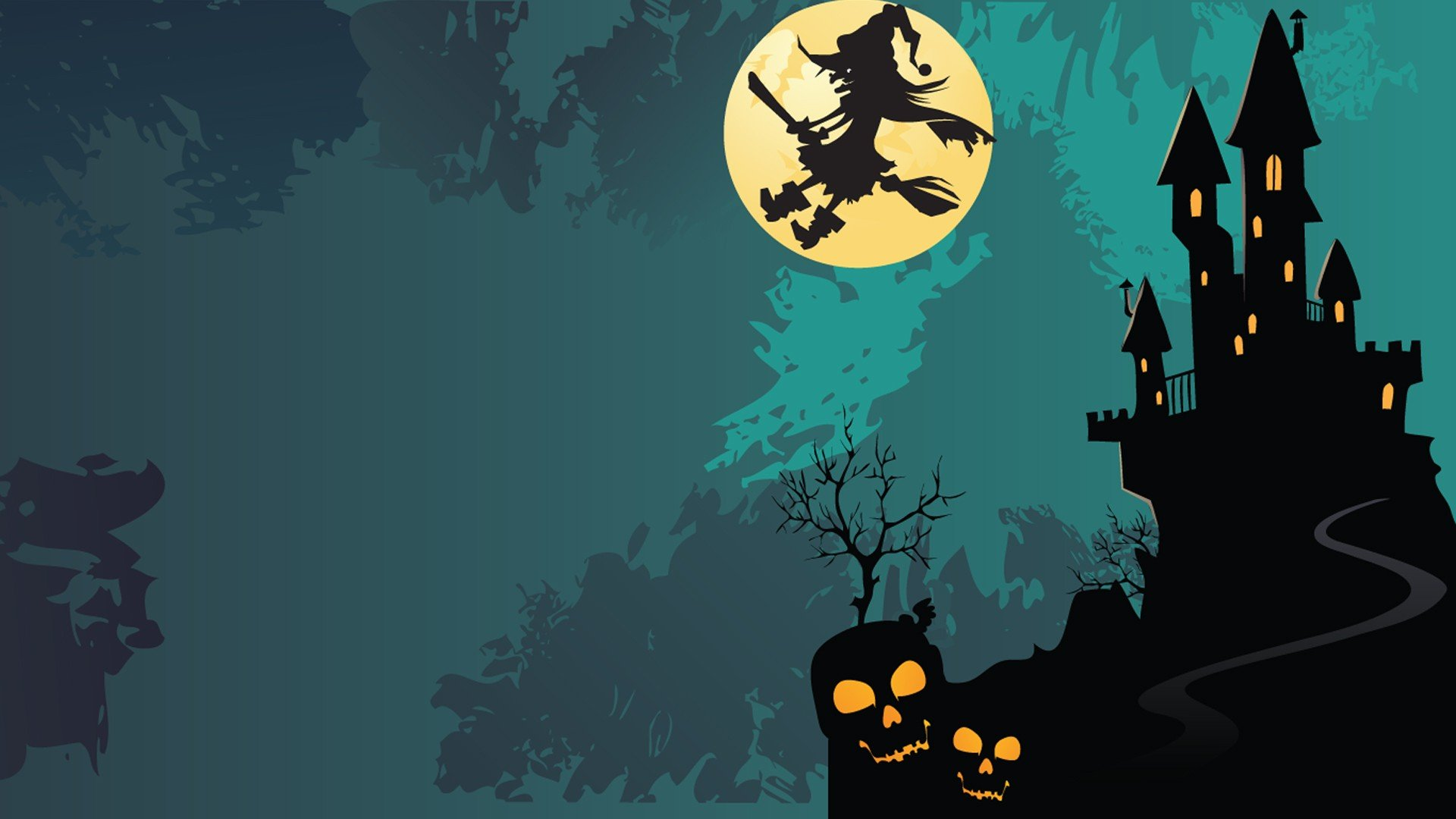 Halloween Castles Witches   Wallpaper 37571 1920x1080