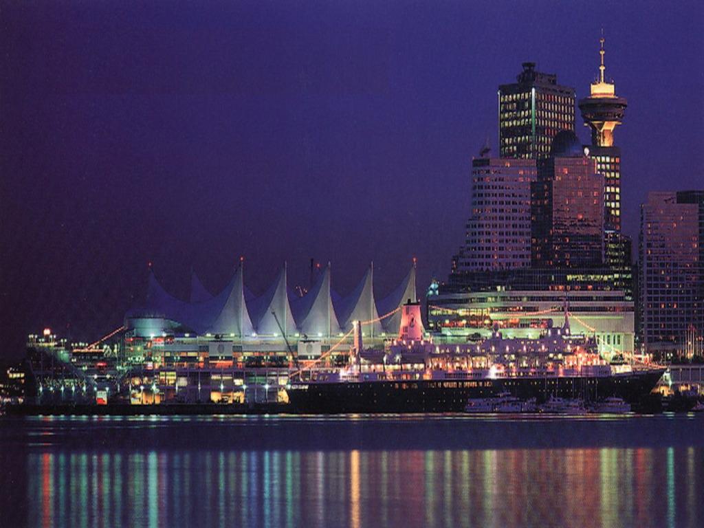 Vancouver Winter Skyline wallpaper 1024x768