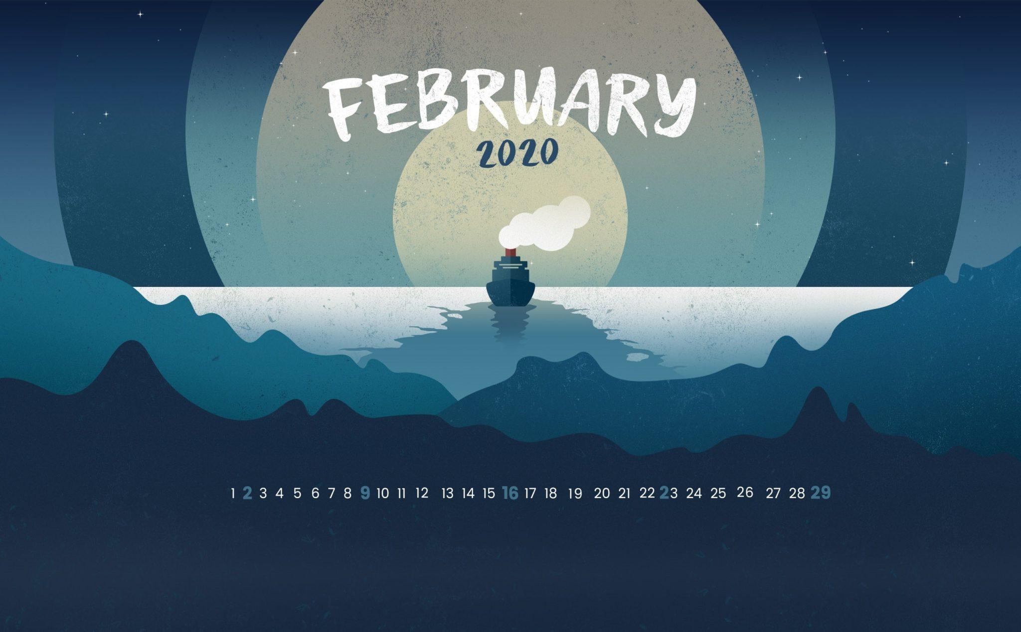 February 2020 Desktop Wallpaper Latest Calendar 2048x1269