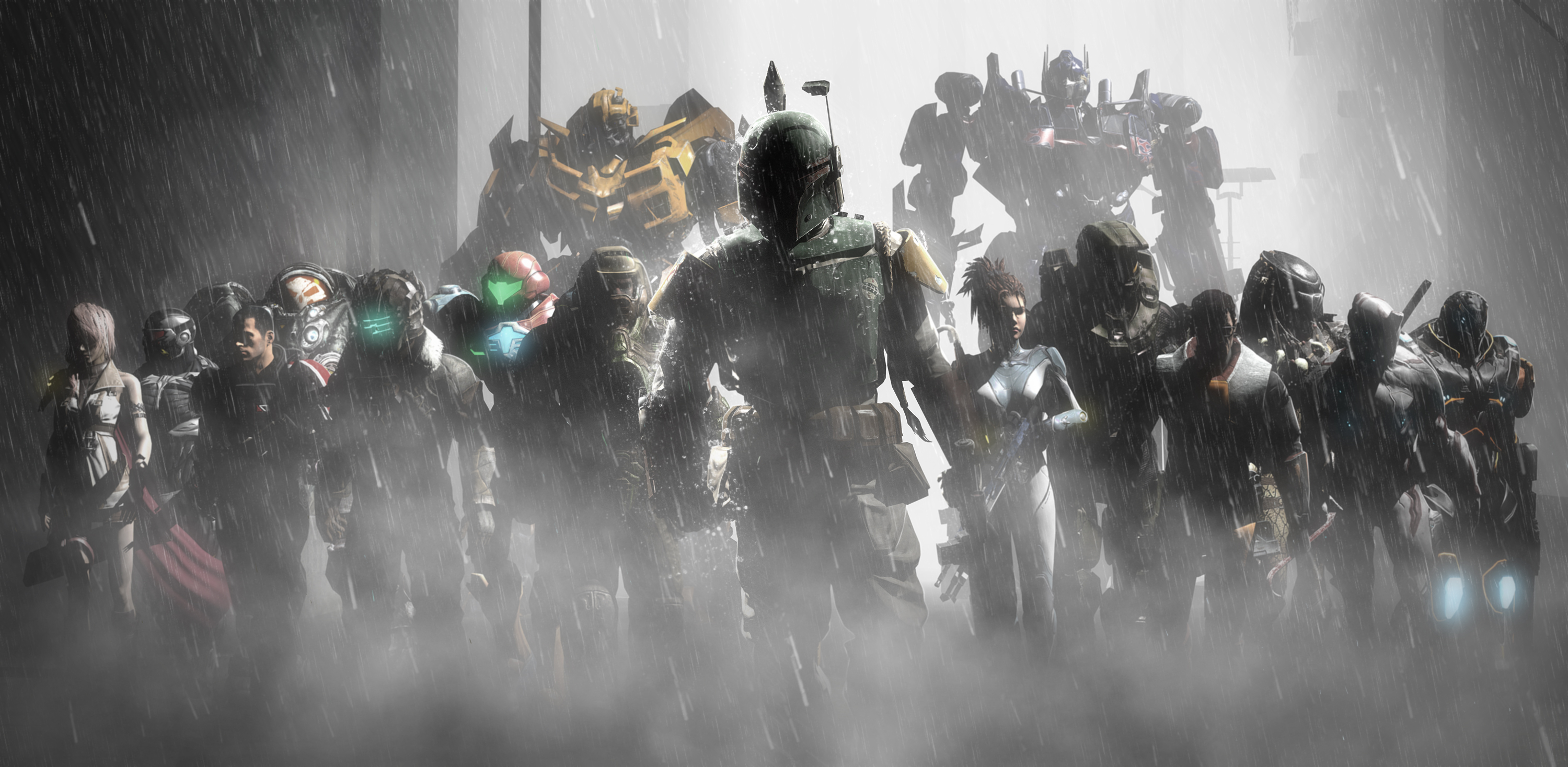 Halo Dead Space Crysis Mass Effect Video Games Boba Fett 3000x1468