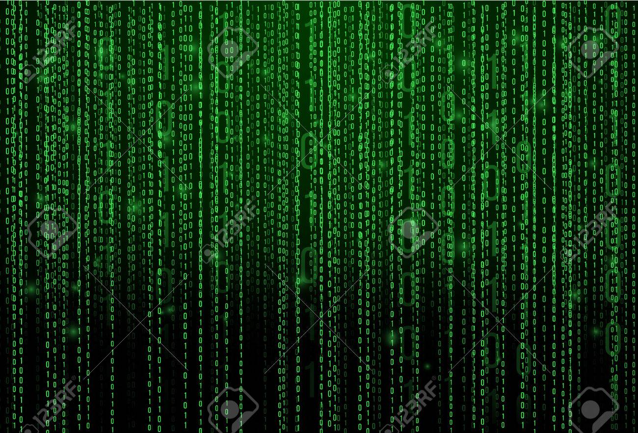 Abstract Matrix Background Binary Computer Code Coding Hacker 1300x883