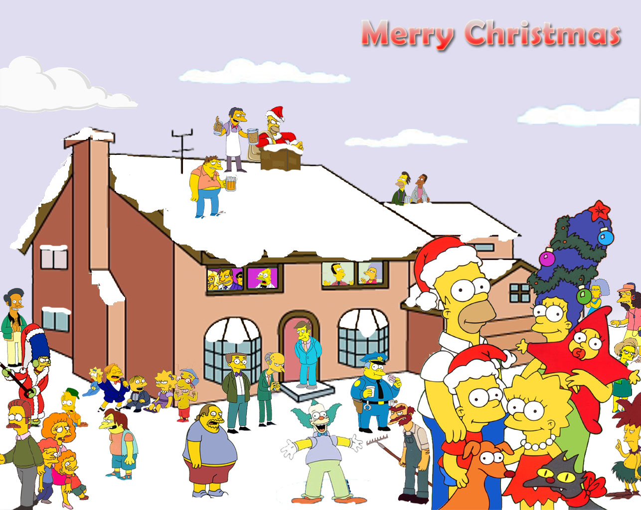 The simpsons wallpapers christmas   Socialphy 1286x1024
