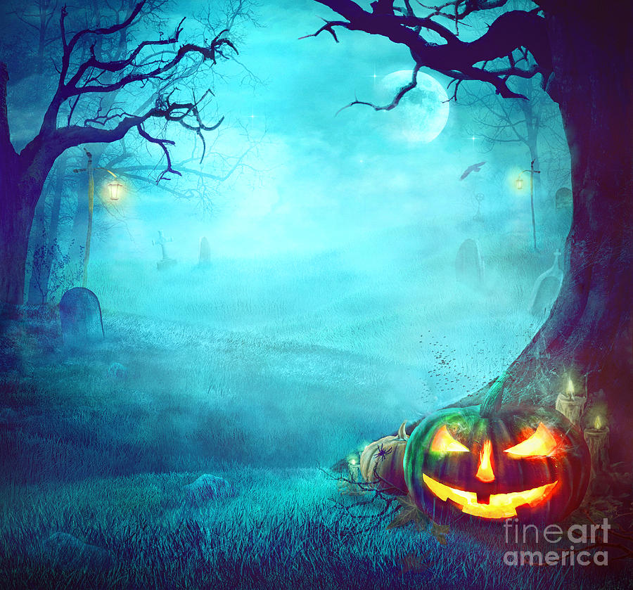 Halloween Spooky Background Photograph by Mythja Photography 900x839