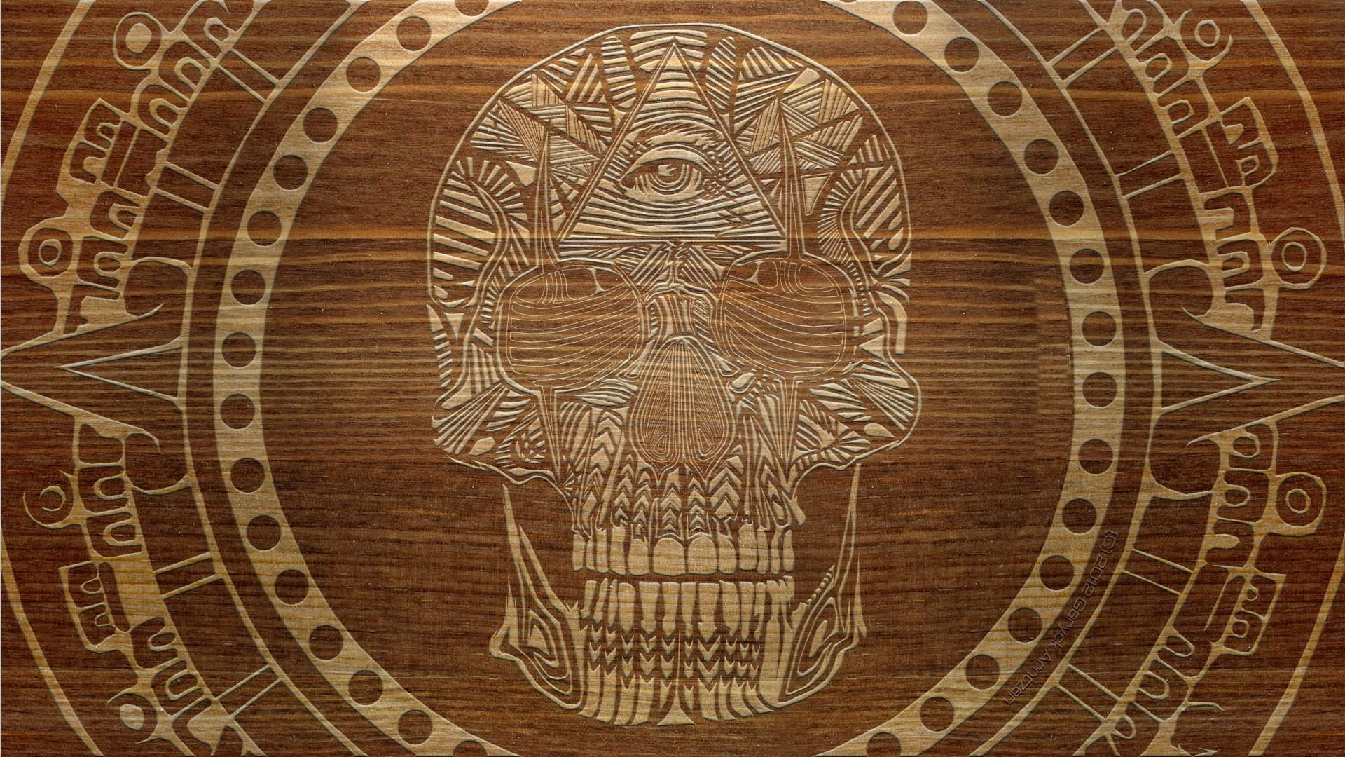 Patterns masonic digital art engraving symbol carving wallpaper 1920x1080