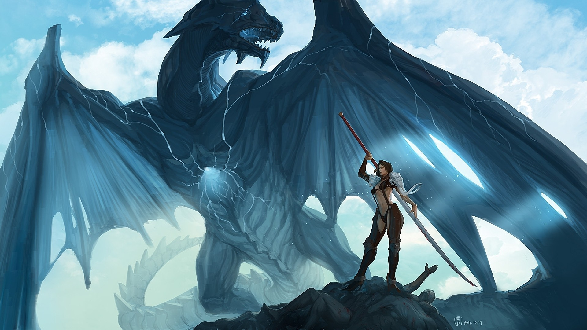 Fantasy Dragon   Anime Animated Wallpapers Best HD Wallpapers 1920x1080