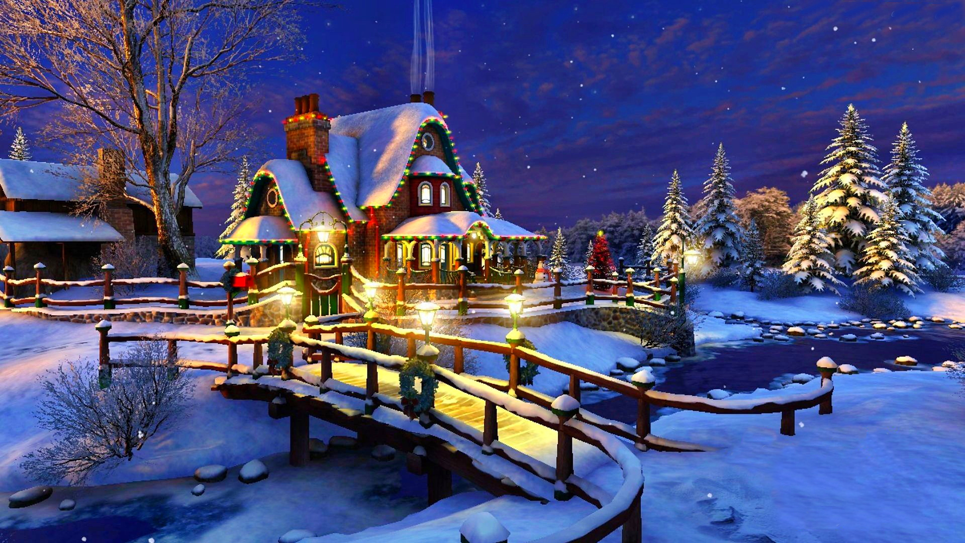old fashioned winter christmas scenes Car Pictures 1920x1080