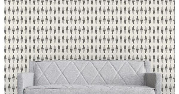 Self Adhesive Removable Wallpaper Retrogeo   Greyscale Adhesive 600x315