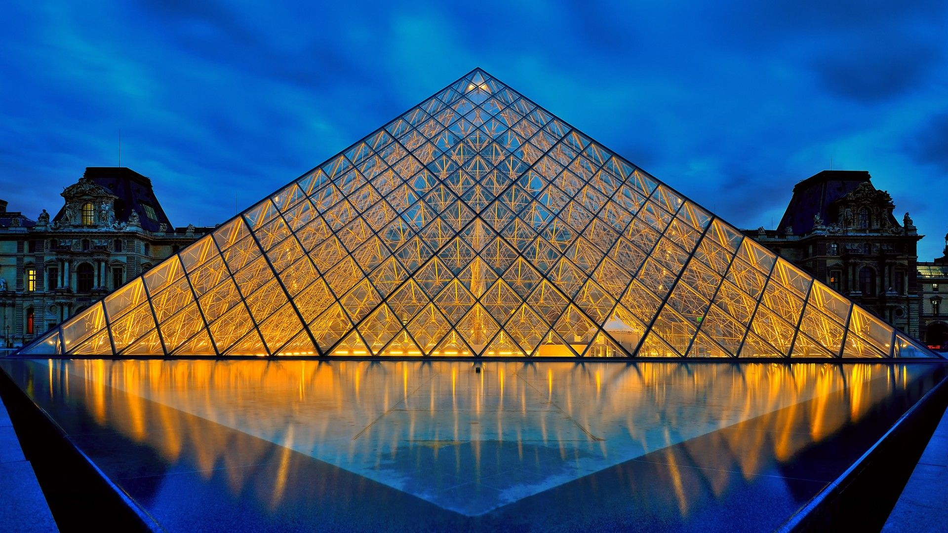 The Louvre Full HD Wallpaper   Travel HD Wallpapers triangles 1920x1080