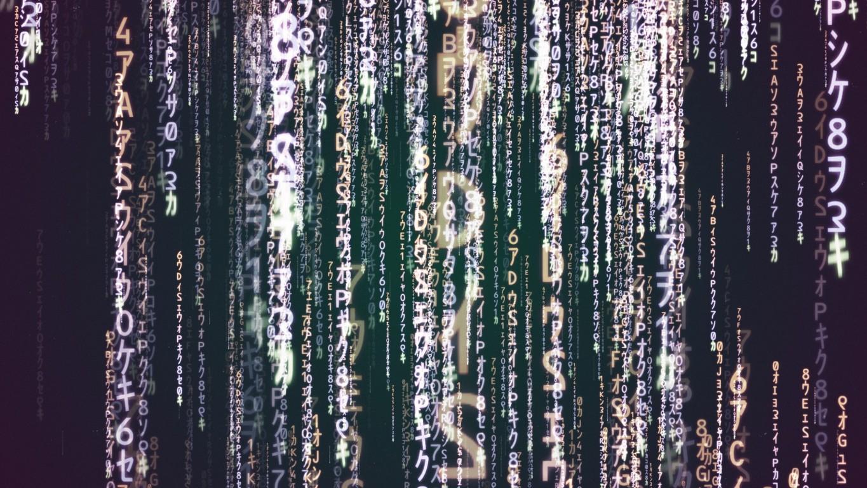 Matrix code wallpaper 16411 1365x768