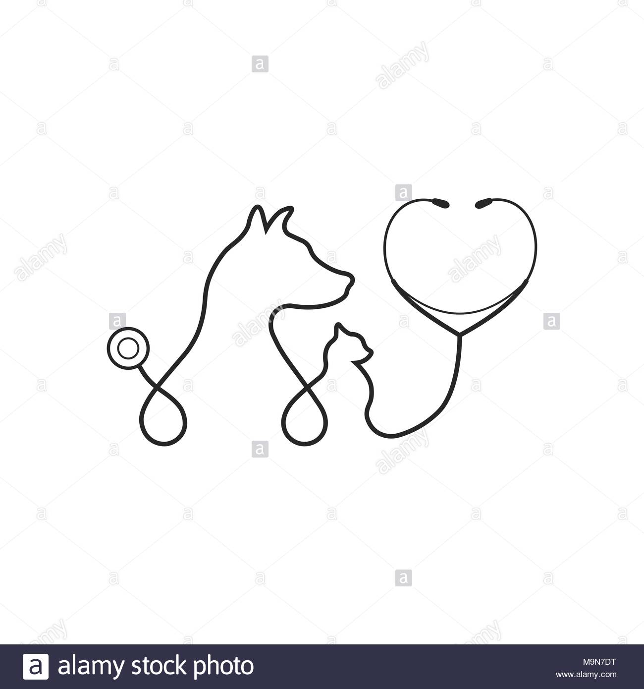 Animal treatment icon on white background Stock Vector Art 1300x1390