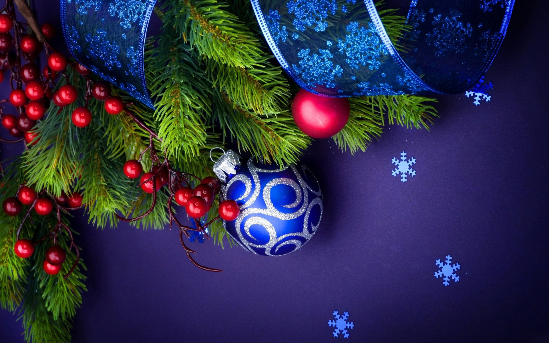 Christmas Ball Blue   1920x1200   1610 1920x1200