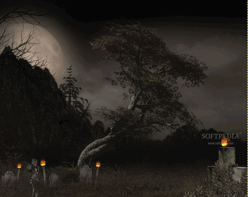 Halloween Tree Animated Wallpaper 1 803x637