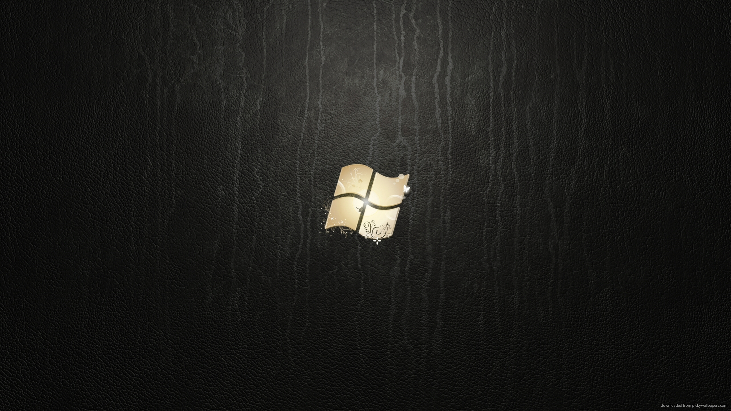 Download 2560x1440 Windows 7 Ultimate Leather Wallpaper 2560x1440