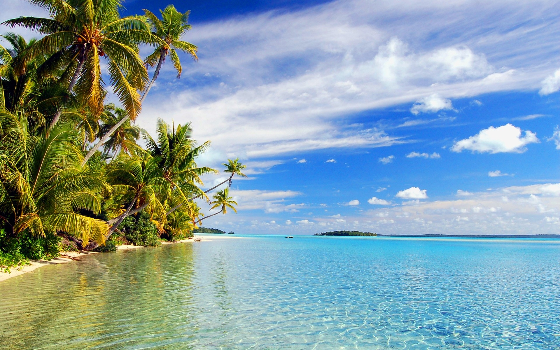 tropical wallpaper beach island wallpapers paradise reflections 1920x1200