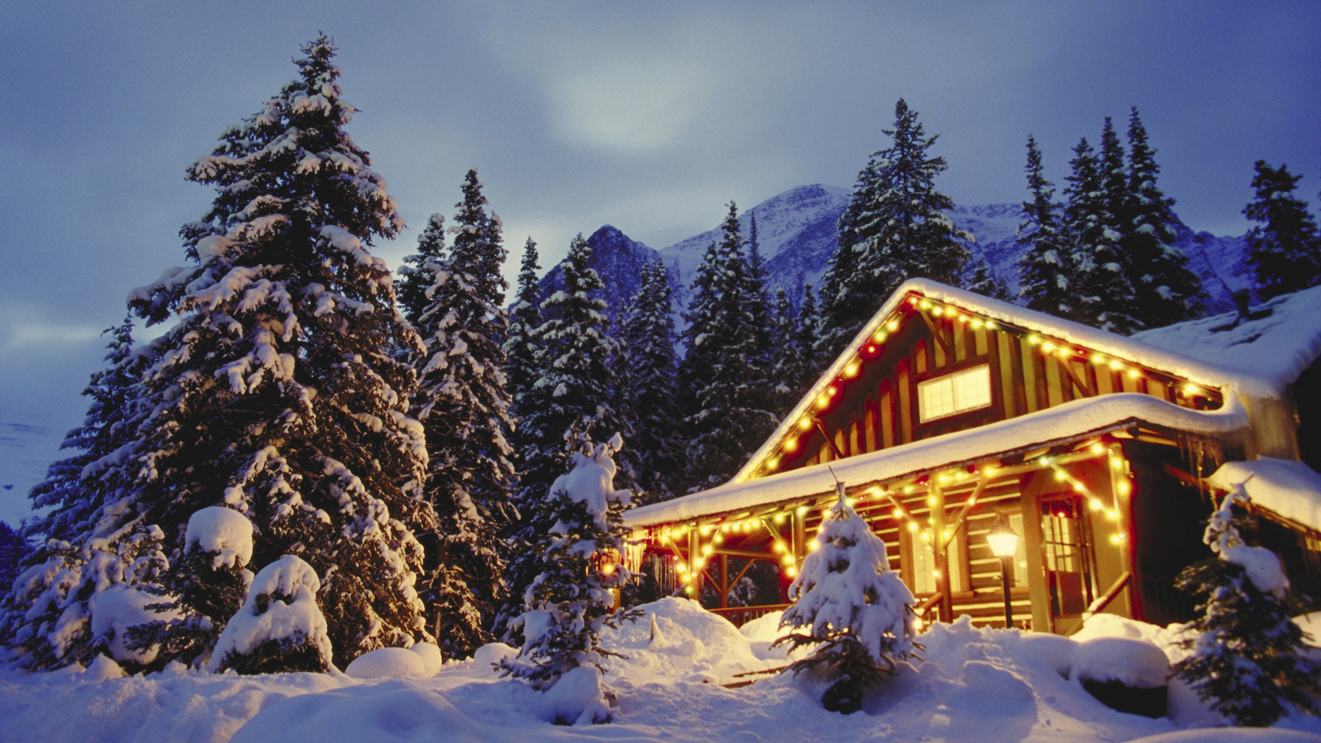 winter cabin wallpaper 1920x1080