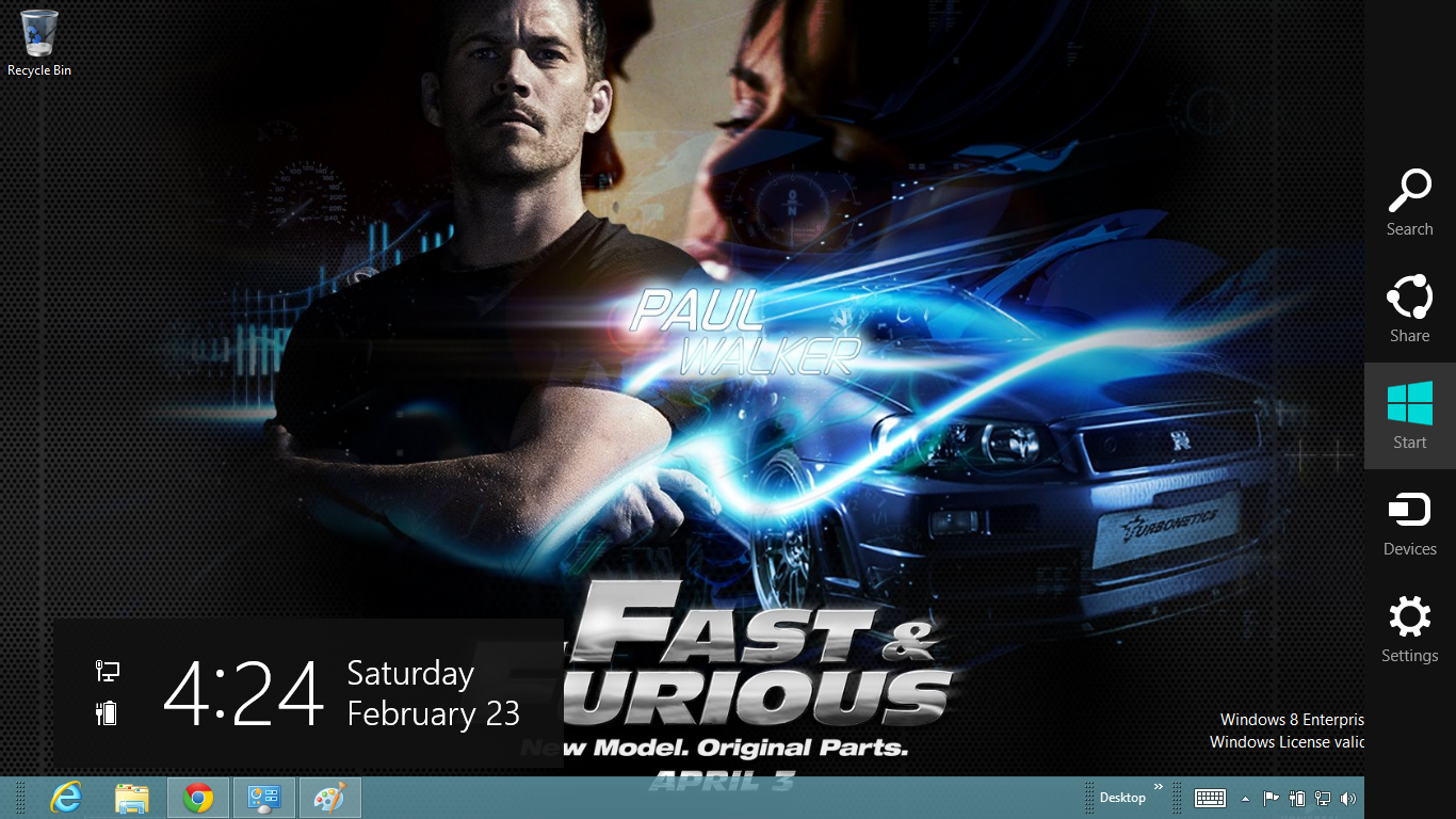 Fast And Furious 6 Windows 7 And 8 Theme Ouo Themes 1366x768