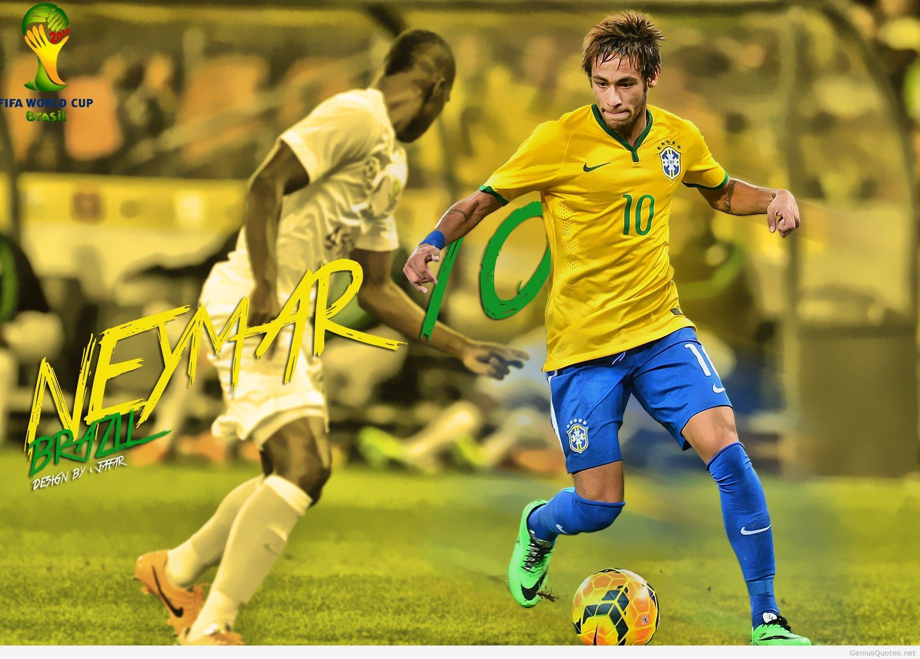 Fifa Brazil Neymar D Wallpaper Wallpapersafari