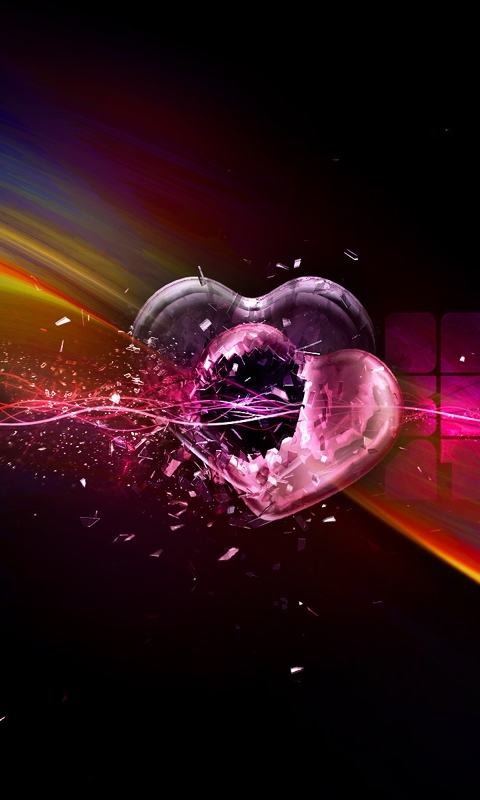 Heart Design Mobile Phone Wallpapers 480x800 Hd Wallpaper For Phone 480x800