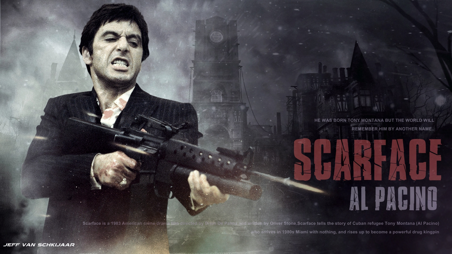 al pacino scarface wallpaper by jeffery10 d73f8gm scarface 1920x1080