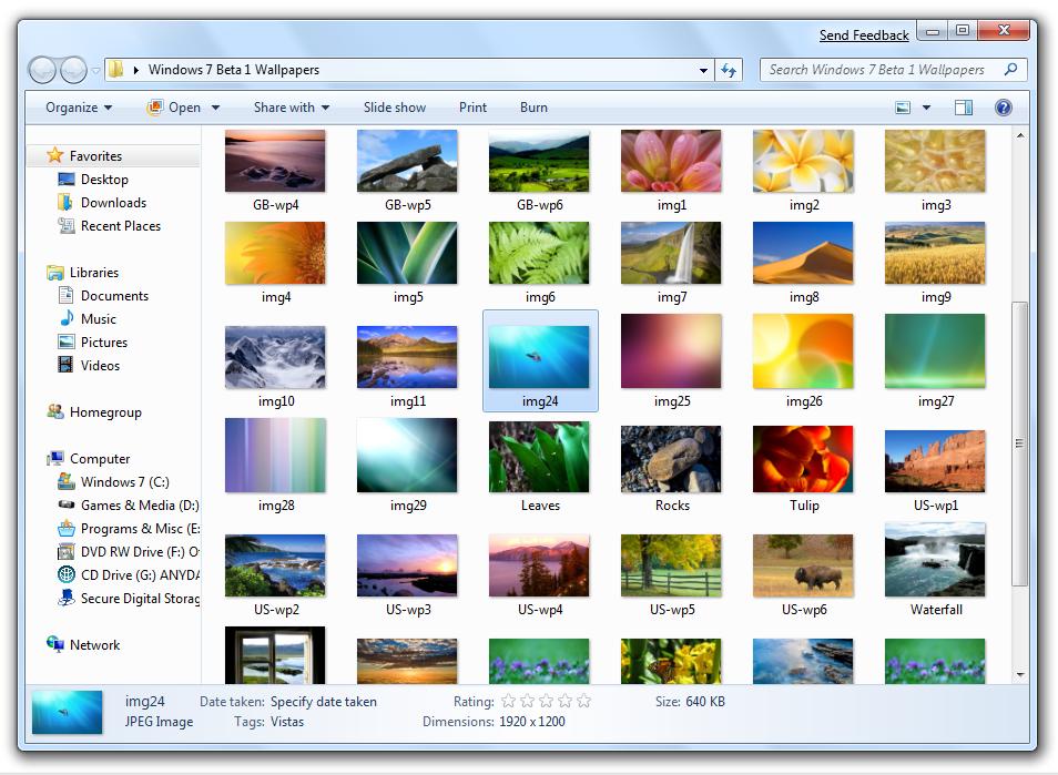 Windows 7 Beta Wallpaper Pack Redmond Pie 954x699