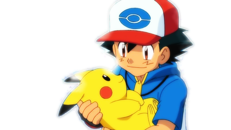 Ash and Pikachu Render by KuroTennyo 800x450