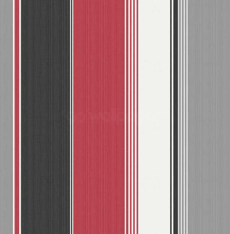 Debona Stripe Red Black Silver Wallpaper 30296 786x800