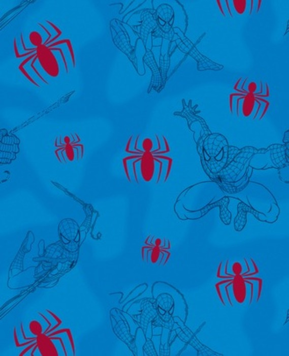 Spiderman Bedroom Wallpaper with a blue background 569x700