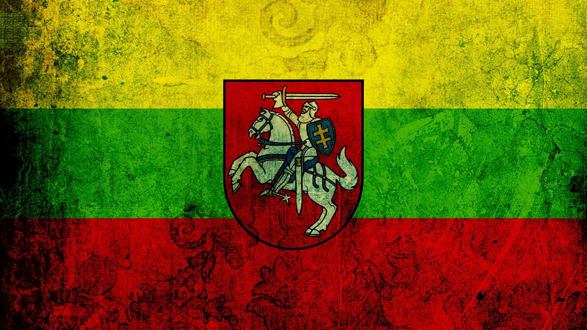 Lithuania Flag Texture Background Symbols   Stock Photos 1920x1080