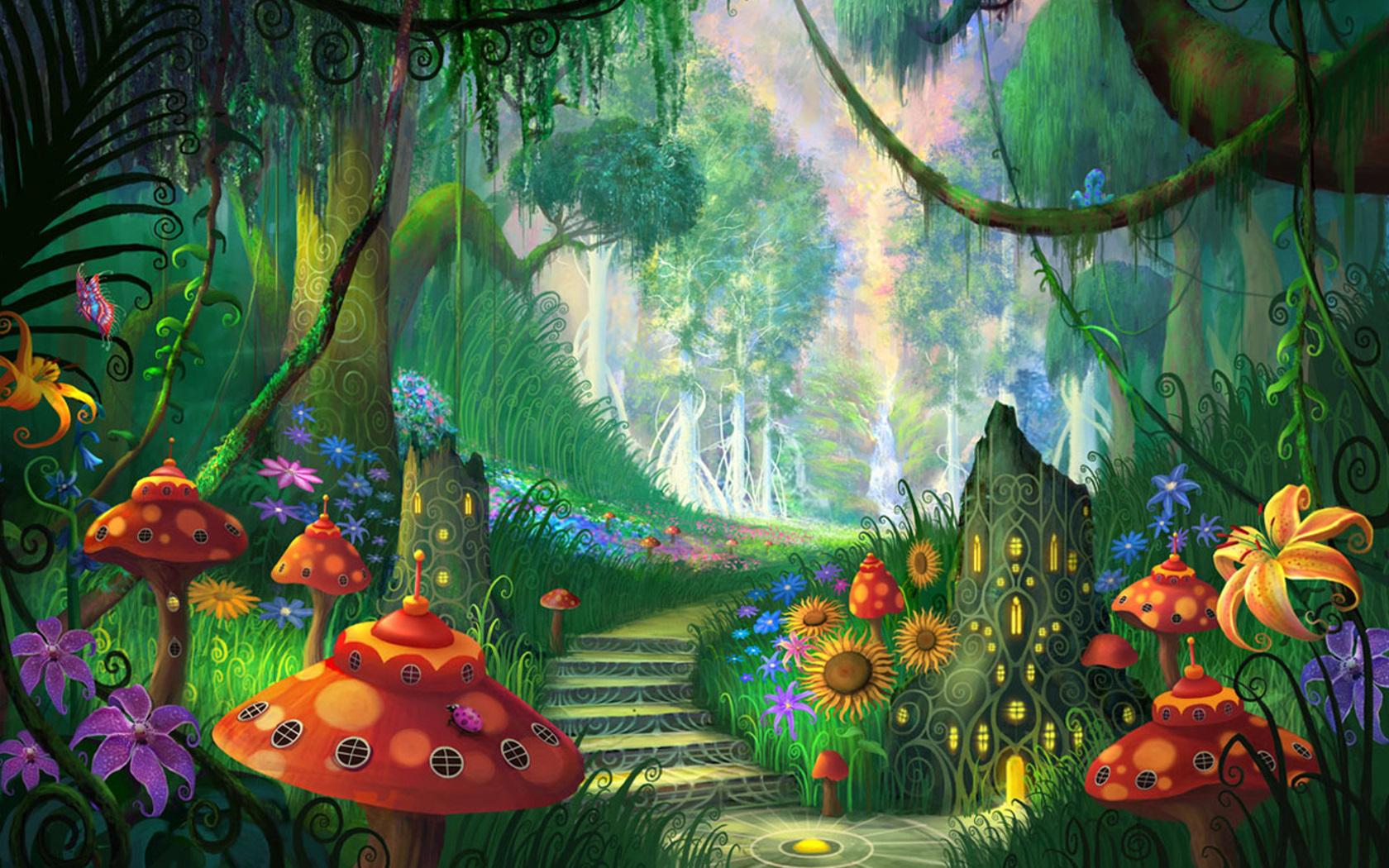 Beautiful Magic Fantasy Garden Wallpaper Gallery Yopriceville 1680x1050