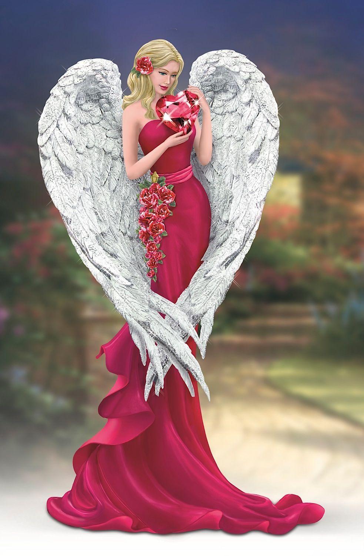 Thomas Kinkade Heart of Love Angel Figurine by The Bradford 983x1500