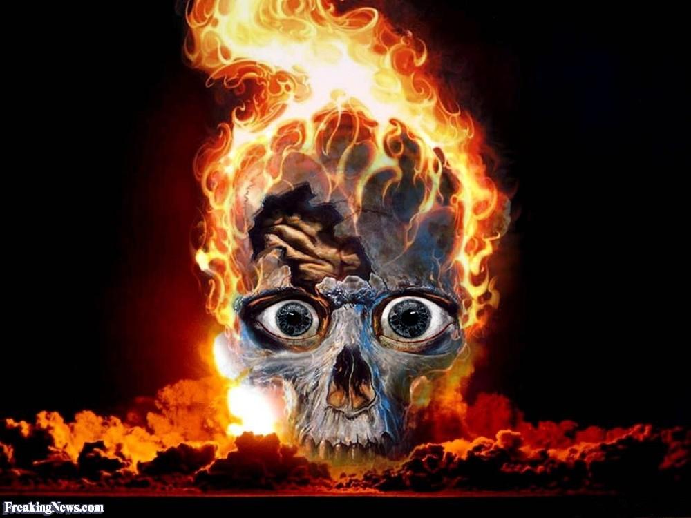 cool wallpaper fire skull 1000x750