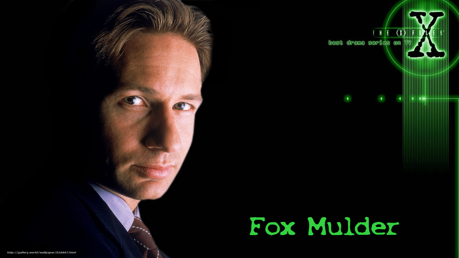 Download wallpaper The X Files the x files series Fox Mulder 1600x900