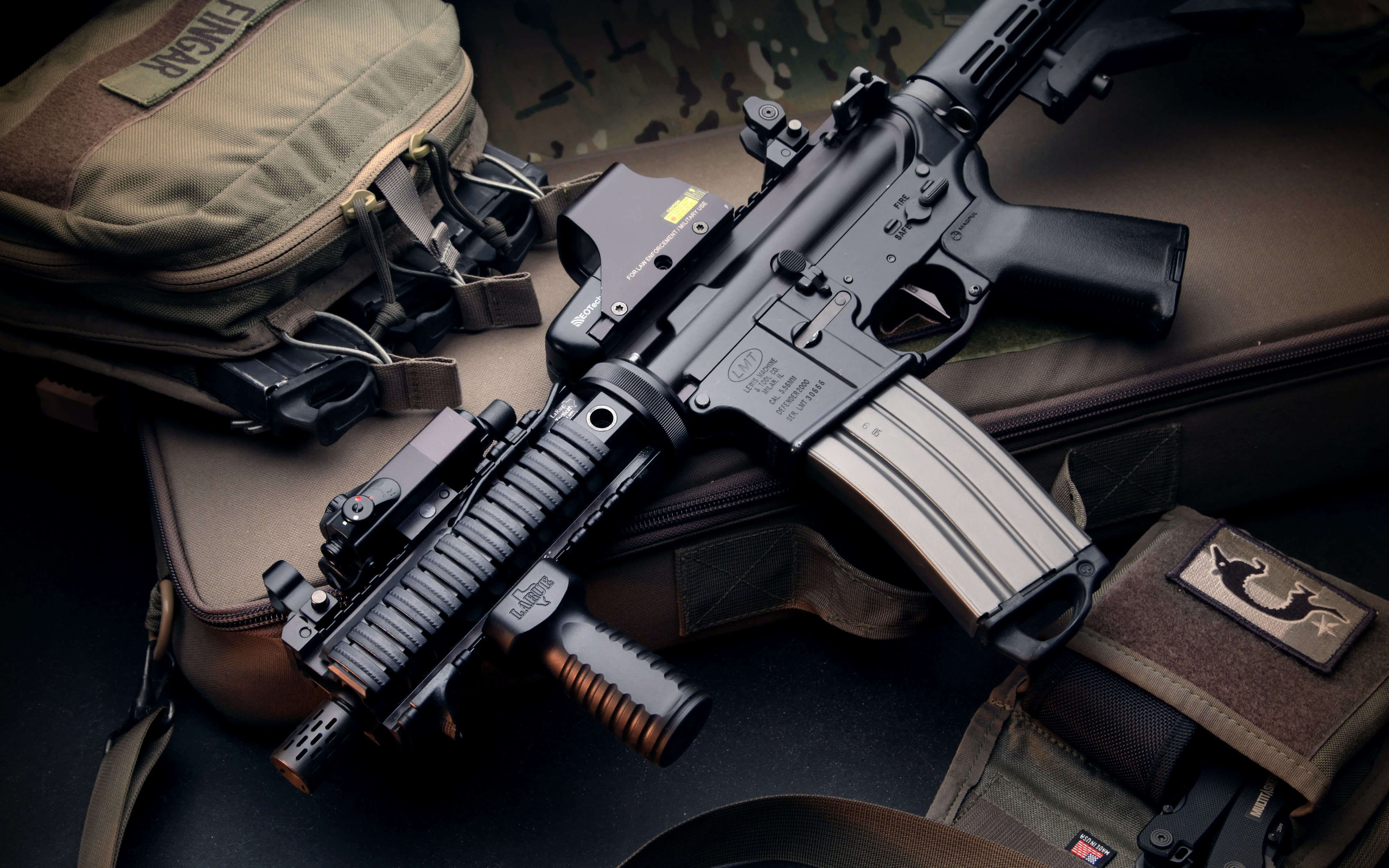 magpul collimator m4 machine gun military police wallpaper background 2560x1600