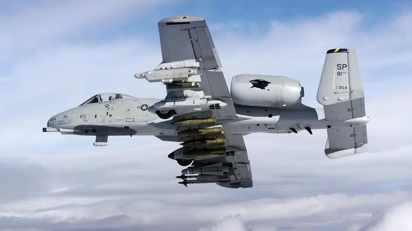 ... HD Wallpaper // hd 1366x768 // A10 Thunderbolt warthog hd