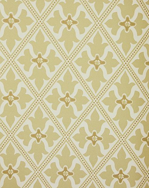 Yellow Trellis Wallpaper Bayham Abbey Wallcovering English 491x620