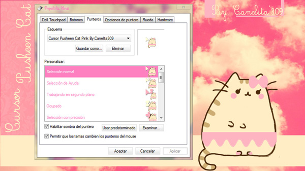 Pusheen   Desktop Themes Windows 8 Themes Windows 7 Themes 600x337