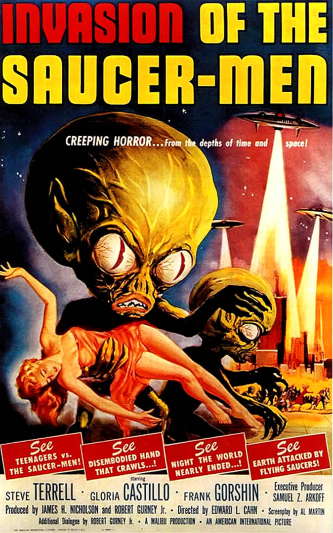 INVASION OF THE SAUCER MEN   Alien Invasion B Movie Posters 674x1080